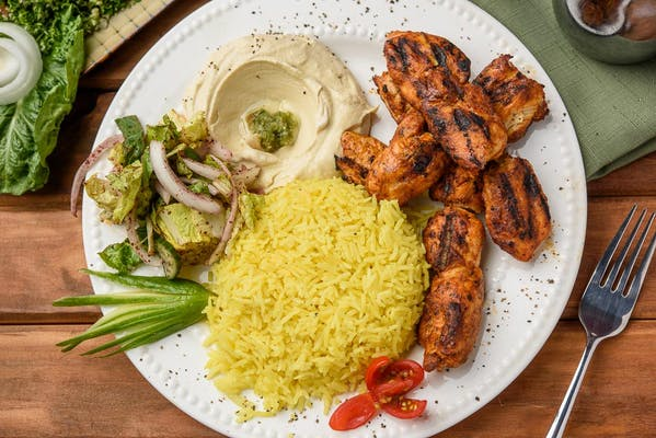 3. Chicken Kebab Plate