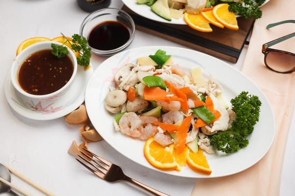 Steamed Chicken & Shrimp with Vegetables