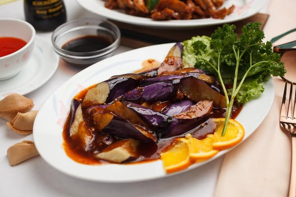 Eggplant with Spicy Garlic Sauce