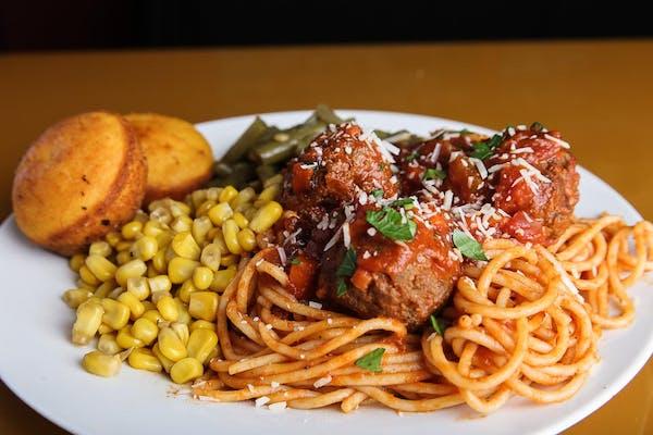 Spaghetti & Meatballs Daily Special