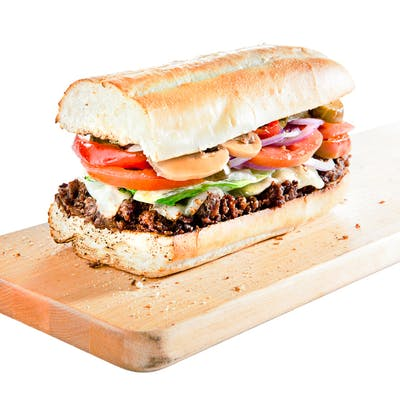 Cheddar Bacon Steak Hoagie