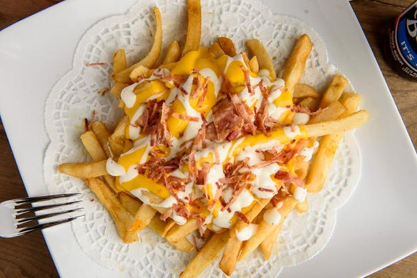 Fully loaded cheese fries