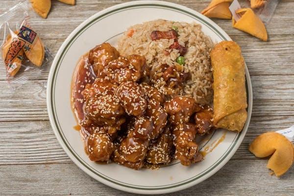 Sesame Chicken Combo Plate