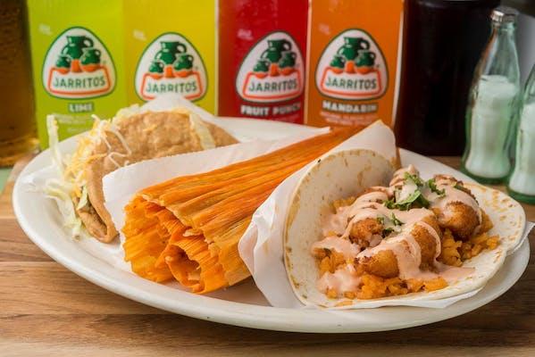 (#9) Tamal Shrimp Taco & Hard Taco