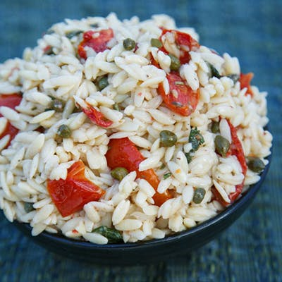 Orzo Salad with Roasted Tomatoes