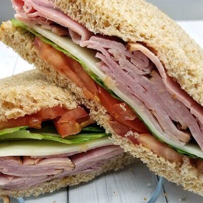 Applegate Ham Sandwich on No-Wonder White Bread