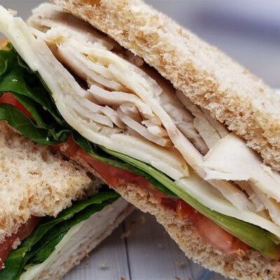 Applegate Turkey Sandwich on No-Wonder White Bread