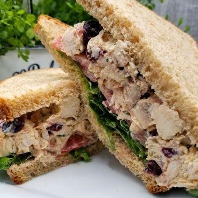 Victor's Chicken Salad Sandwich on No-Wonder White Bread