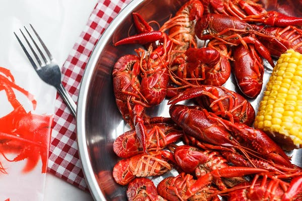 Dinner Boiled Crawfish