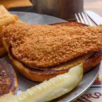 Flounder Fillet Sandwich