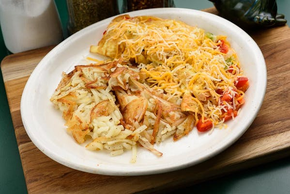 Omelet & Hash Browns