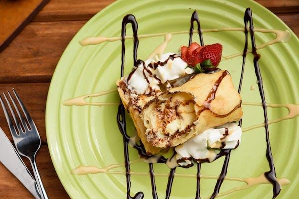 Fried Cheesecake Roll