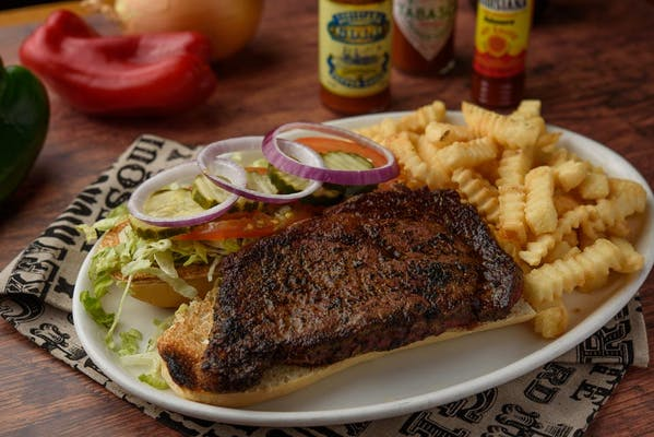 Blackened Ribeye Steak Sandwich