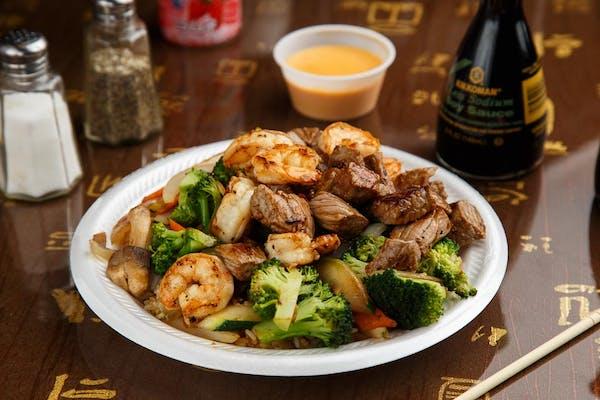 Steak & Shrimp Teriyaki or Hibachi