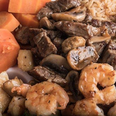 Dinner Chicken, Steak & Shrimp Hibachi