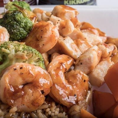 Lunch Chicken & Shrimp Hibachi