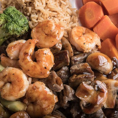 Lunch Steak & Shrimp Hibachi