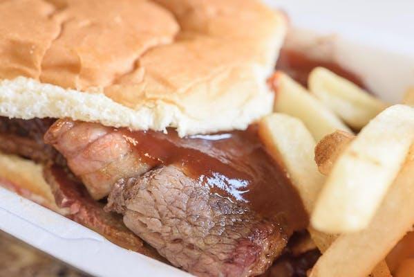 Sliced Brisket Meal Or Sandwich