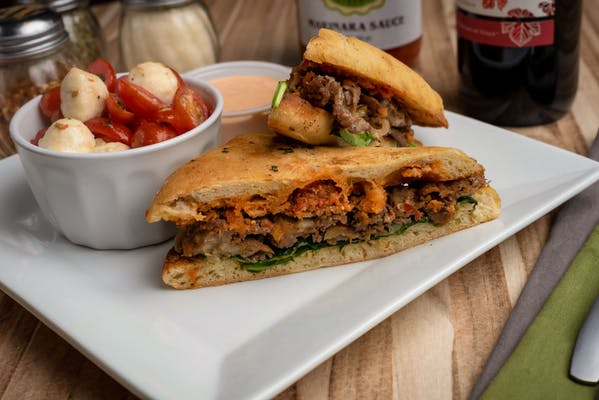 Spicy Cheesesteak Panini