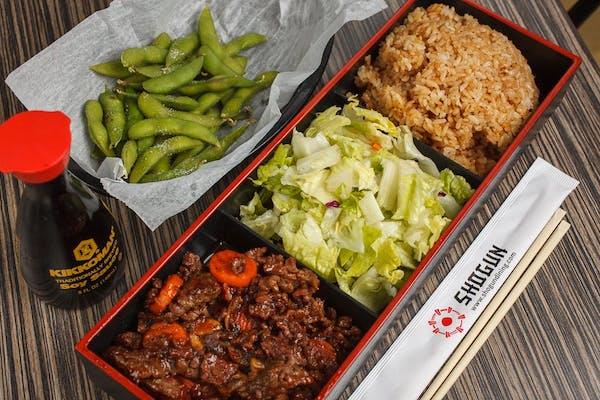 Asian Barbecue Steak Bento Box