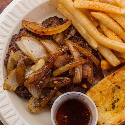 Hamburger Steak w/ Grilled Onions & Gravy