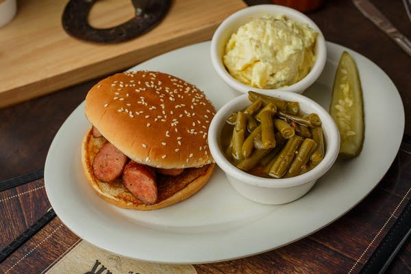Smoked Sausage BBQ Platter