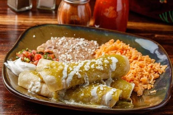 Pork Chile Verde Enchilada