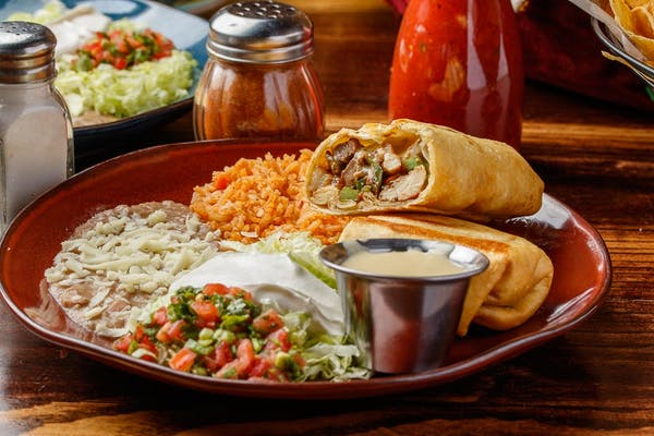 Grilled Chicken Burrito or Chimichanga