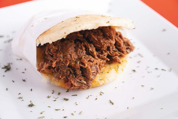Shredded Beef Arepa