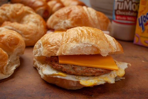 Sausage, Egg & Cheese Croissants