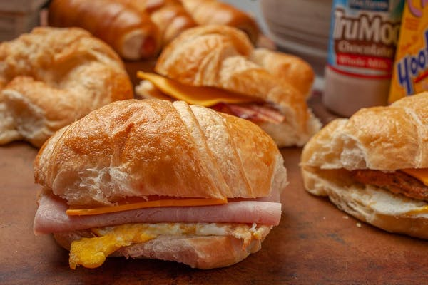 Ham, Egg & Cheese Croissants