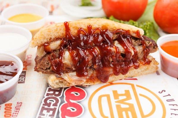 Stuffed Barbecue Brisket Burger