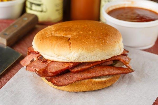 Sliced Smoked Sausage Sandwich