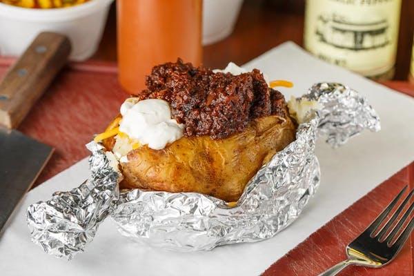 Fully Loaded Chopped Beef Baked Potato
