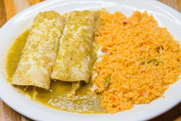 Lunch Enchiladas Verdes