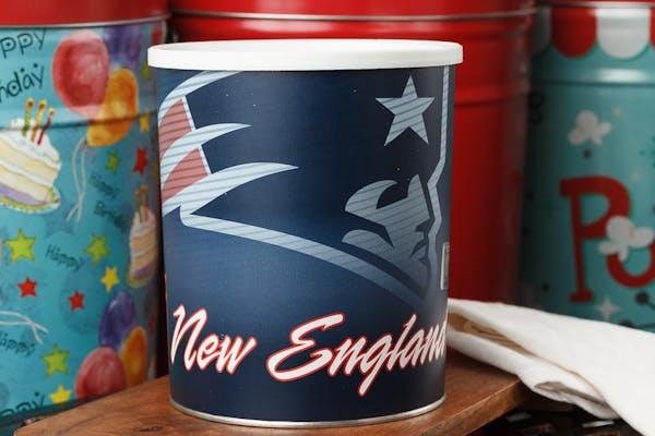 New England Patriots Popcorn Tin