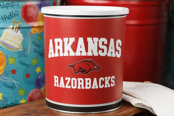 Arkansas Razorbacks Popcorn Tin