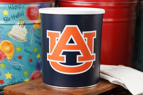 Auburn Tigers Popcorn Tin