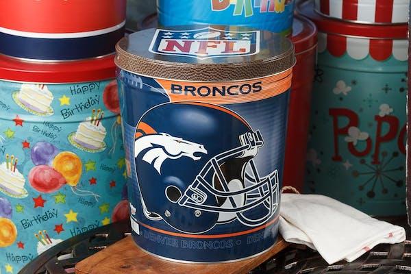 Denver Broncos Popcorn Tin