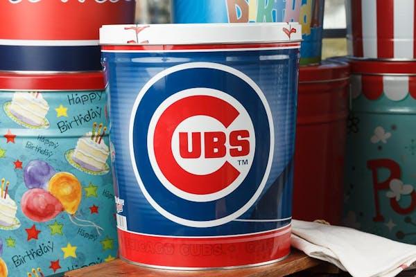 Chicago Cubs Popcorn Tin
