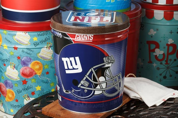 New York Giants Popcorn Tin