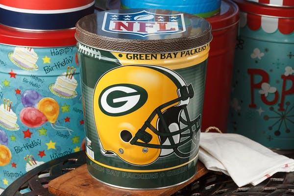 Green Bay Packers Popcorn Tin