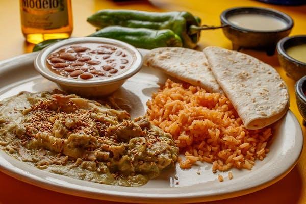 Pepián Verde Enchiladas