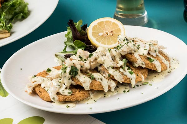 Fried Green Tomatoes & Crab Napoleon