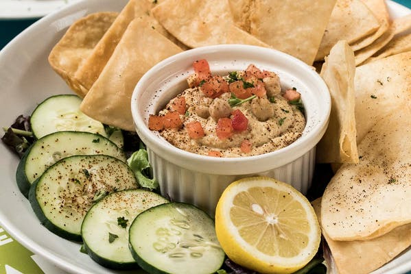 Hummus With Tortillas & Cucumber