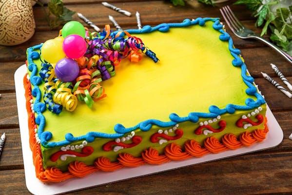 (¼) Sheet Cake