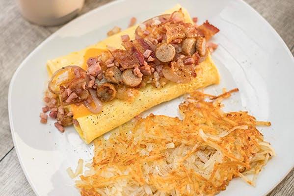 Meat 'N Potatoes Omelet