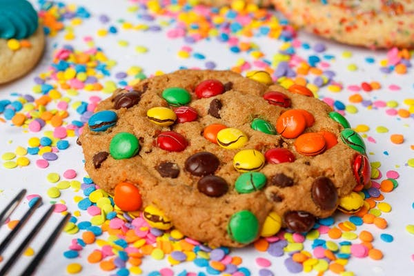 M&M Chocolate Chip Cookie