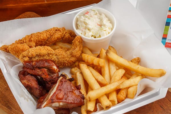 Rib Tips & Fried Catfish Plate