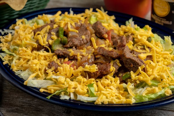 Chicken or Steak Fajita Salad